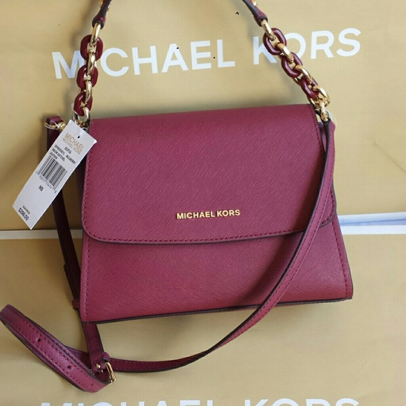 0c50bc14cbaad7 Michael Kors Bags   Sofia Ew Satchel Mulberry Leather Nwt   Poshmark